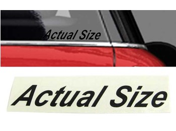 Actual Size Graphic Black Upper & Lower Case - Mini Cooper & S