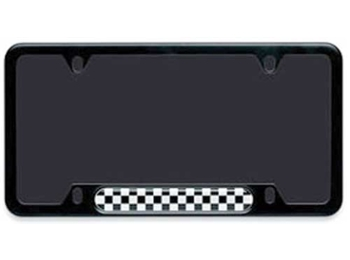 License Plate Frame - Checkered Pattern - Black