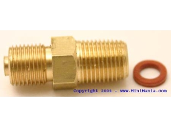 Oil Pressure Guage Adapter For Fitting Into Block,
