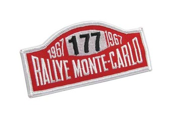 #177 Rallye Monte-carlo Sew-on Patch - Mini Cooper & S