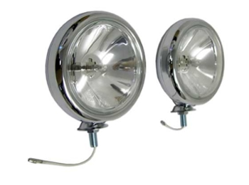 Austin Mini Chrome Spot Light , Driving Light Pair 5