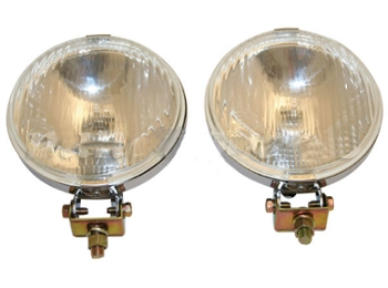 Classic Austin Mini Fog Lights Chrome, 5 1/2 By Wipac