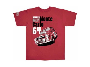Mini Cooper T-shirt 1964 Monte Carlo Rally Mens Large