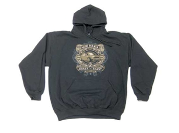 Hooded Sweatshirt Coast-2-coast Blk - Mini Cooper & S