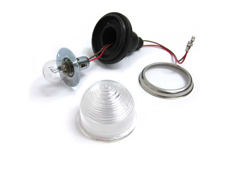 Turn Signal Assembly Clear Plastic Lens Dual Element