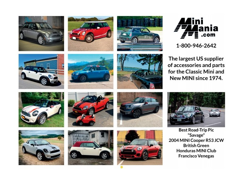 MINI Cooper Customer Cars Calendar For 2020