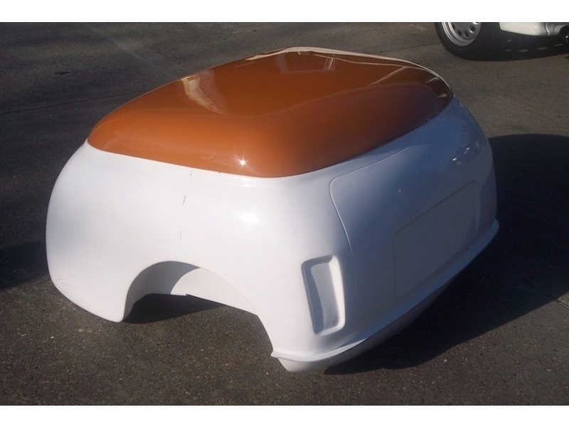 Classic Mini Trailer Tub In Fiberglass With Domed