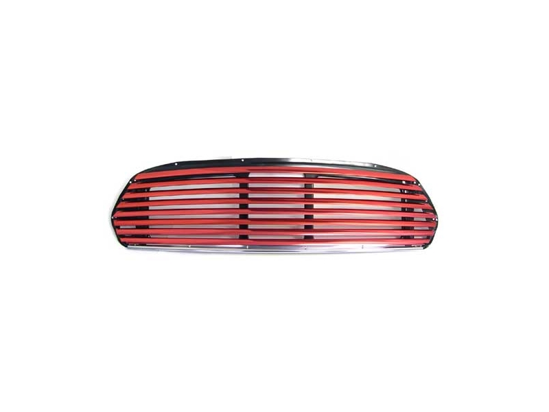 Classic Austin Mini Wide Slat Red Grille Use With Internal Release