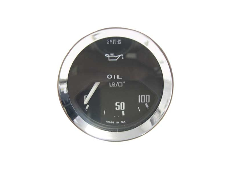 Classic Mini Black Oil Pressure Gauge 0-100 Psi El