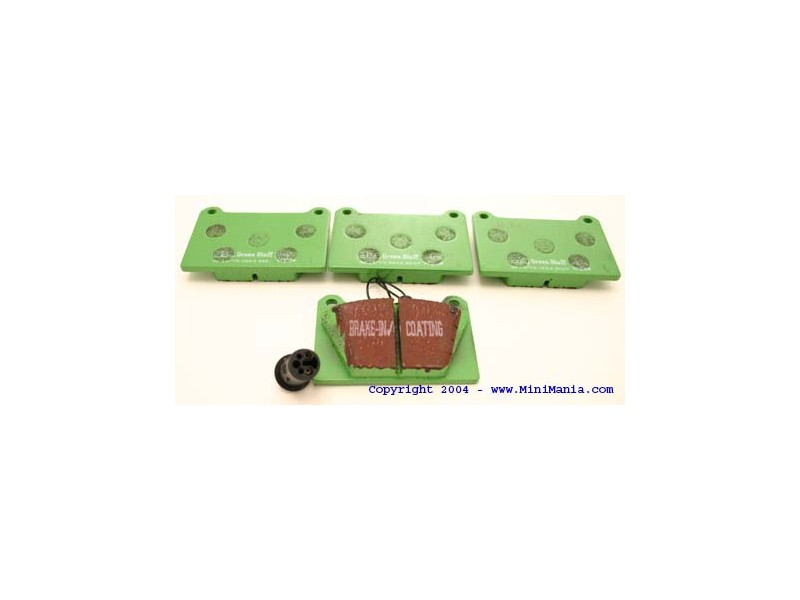 Kevlar Green 4 Pot Caliper Brake Pads Mini Cooper S