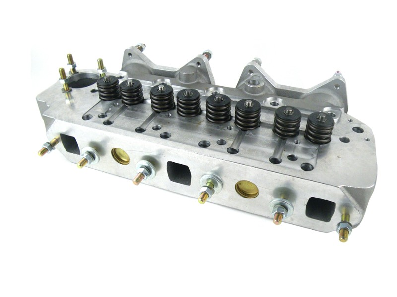 Classic Austin Mini 7 port aluminum cylinder head assembly with valves