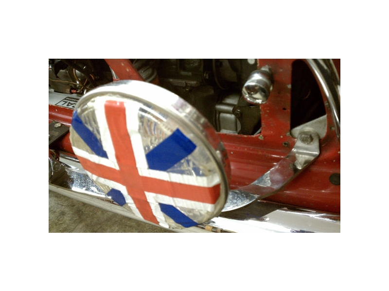 Classic Austin Mini Rally Lamp Bar In Chrome