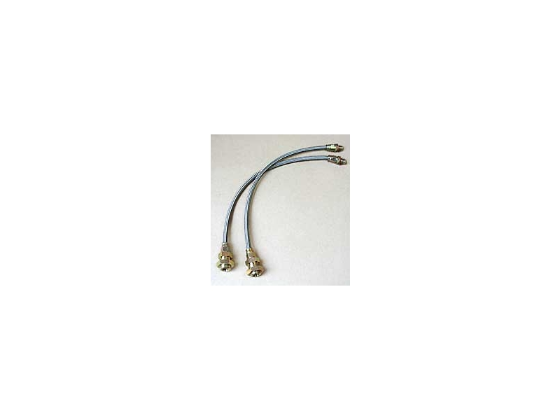 Austin Mini Front Braided Brake Hose Pair