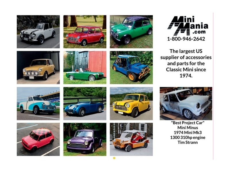 Classic Mini | Spridget | Morris Minor & Moke Calendar 2020