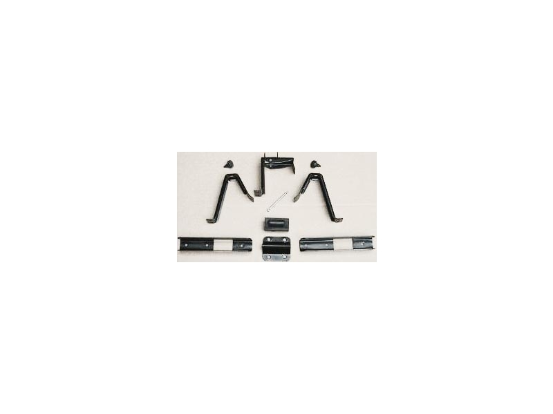 Black Boot Board Bracket Kit For Wide 165 Tyres
