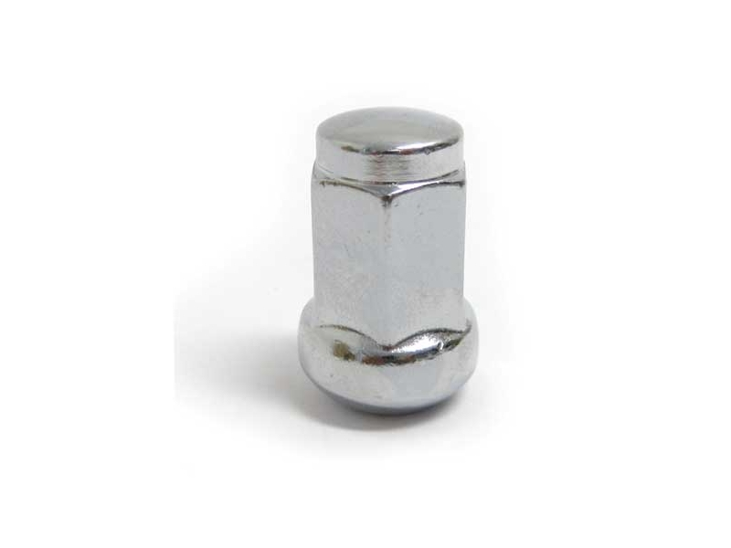Classic Mini-wheel Lug Nut Chrome Acorn Wide Seat Stock Radiused Tap