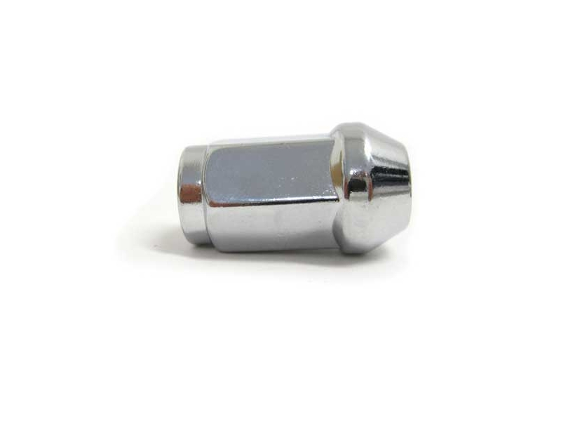 Wheel Lug Nut Chrome Large Seat 60 Degree Taper 1-3/8 Long