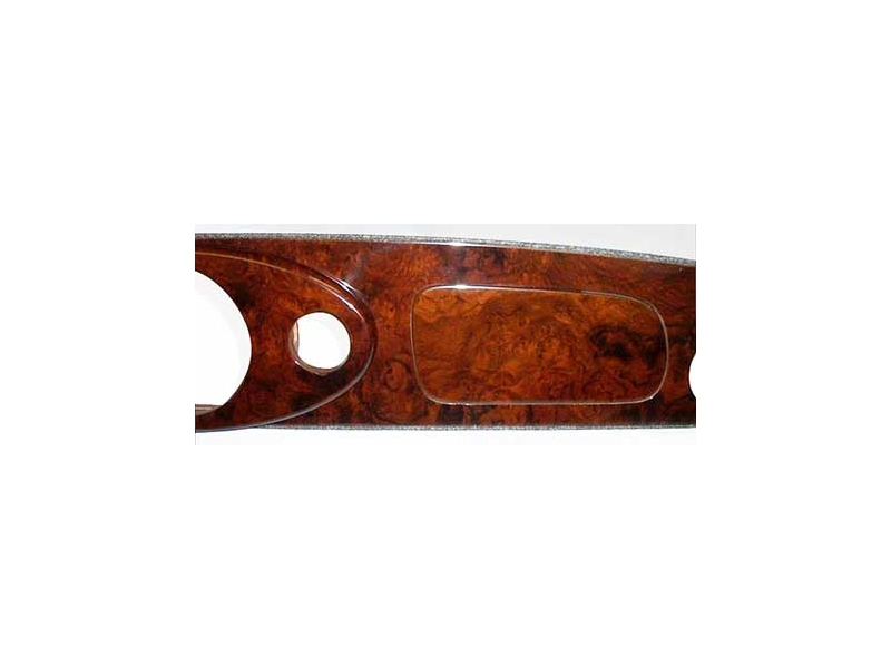 Dashboard Wood - Central Speedo Burl Walnut 1 Piece