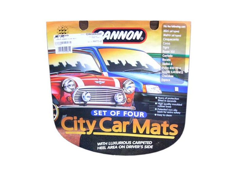 Mini & Cooper Cannon Rubber Floor Mats