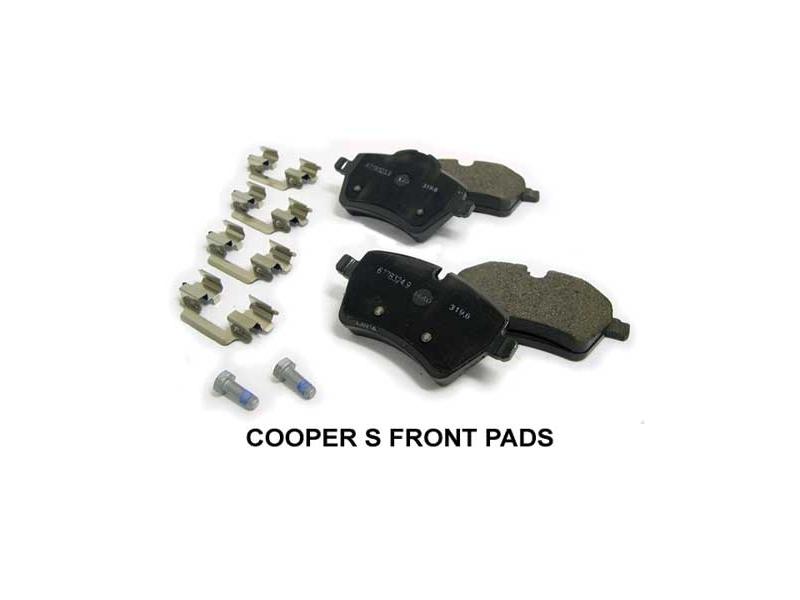 mini cooper brake pads oem gen2 r55 r59. Black Bedroom Furniture Sets. Home Design Ideas