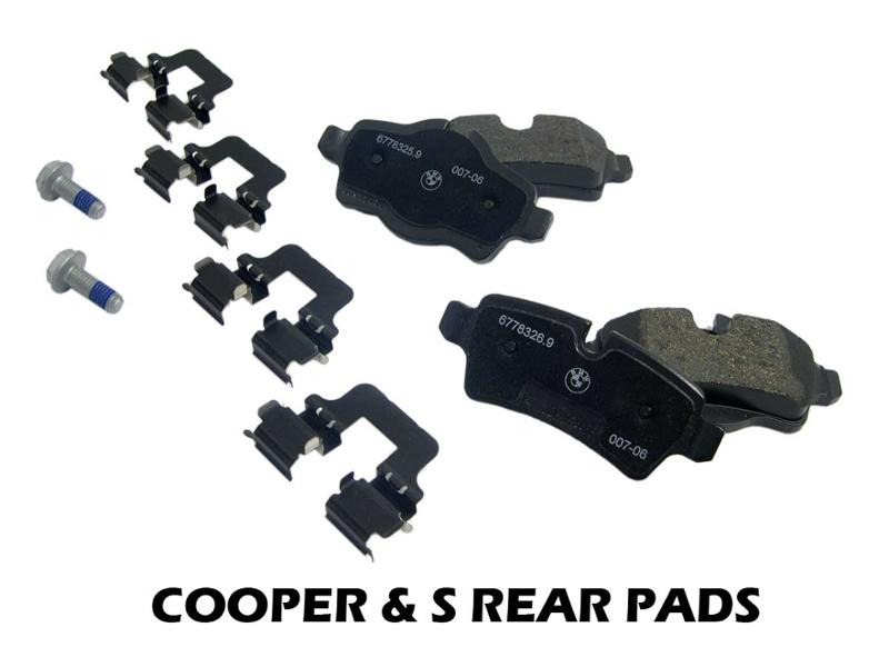 mini cooper s front brake pads oem r55 r59 2011. Black Bedroom Furniture Sets. Home Design Ideas