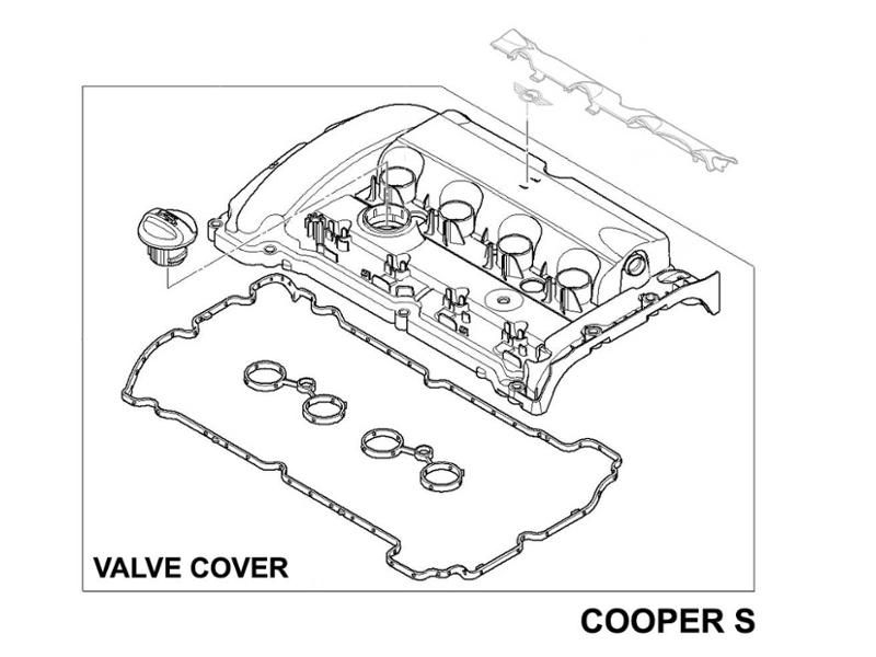 mini cooper s valve cover n14 oem gen2 r55 r56 r57