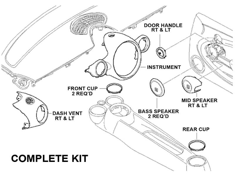 chrome line interior kit  56  57 mini cooper a