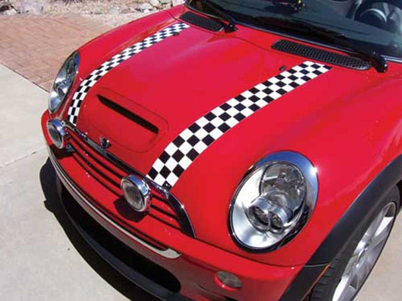 Magna Guard Magnetic Checkered Stripes Pair - R55/56/57 Mini Cooper And S