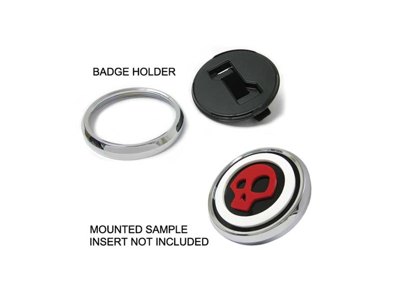 Mini Cooper & S 3d Badge Holder Mounting Kit With Black Trim