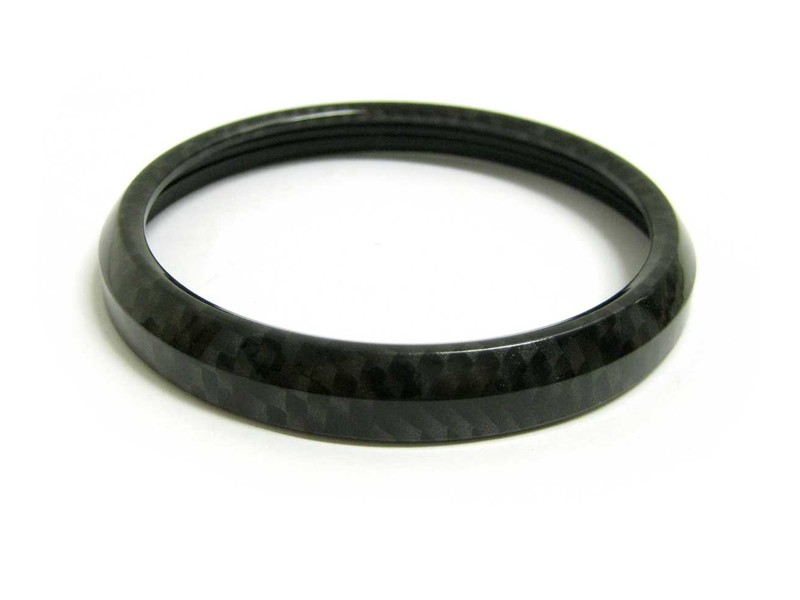 Mini Cooper Gobadge Carbon Fiber Trim Ring For Badge Holder