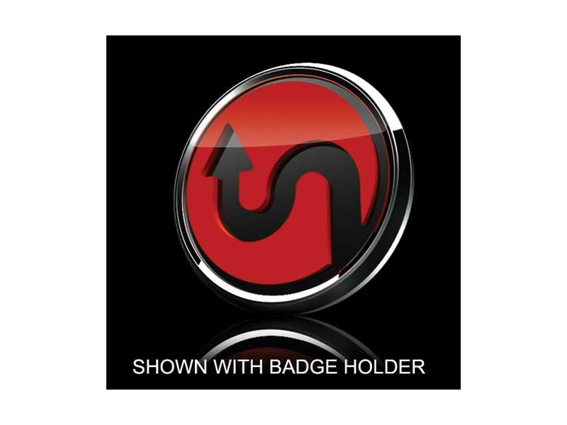 Mini Cooper & S 3d Badge Insert - Horizontal Curve Red