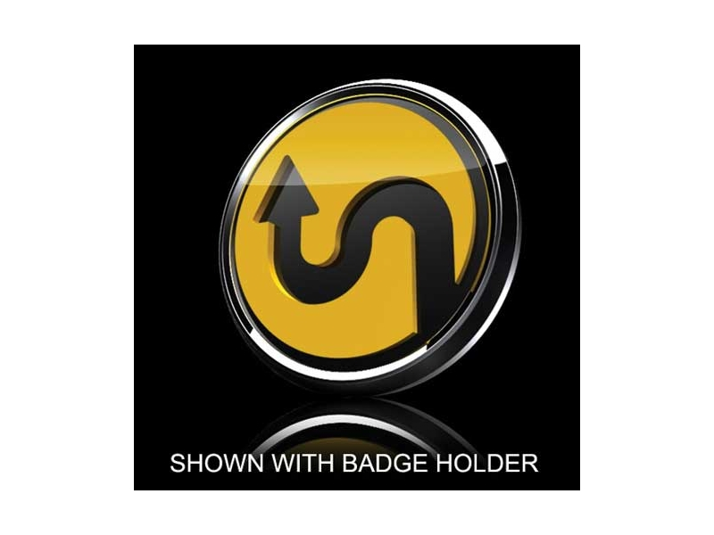 Mini Cooper & S 3d Badge Insert - Horizontal Curve Yellow