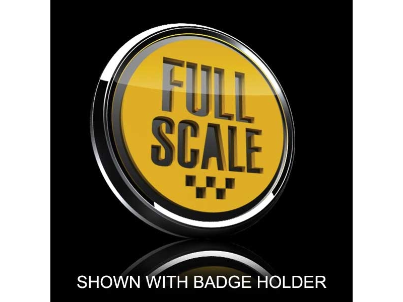 Mini Cooper & S 3d Badge Insert - Full Scale Yellow