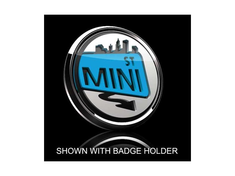 Mini Cooper & S 3d Badge Insert - Mini Street Blue