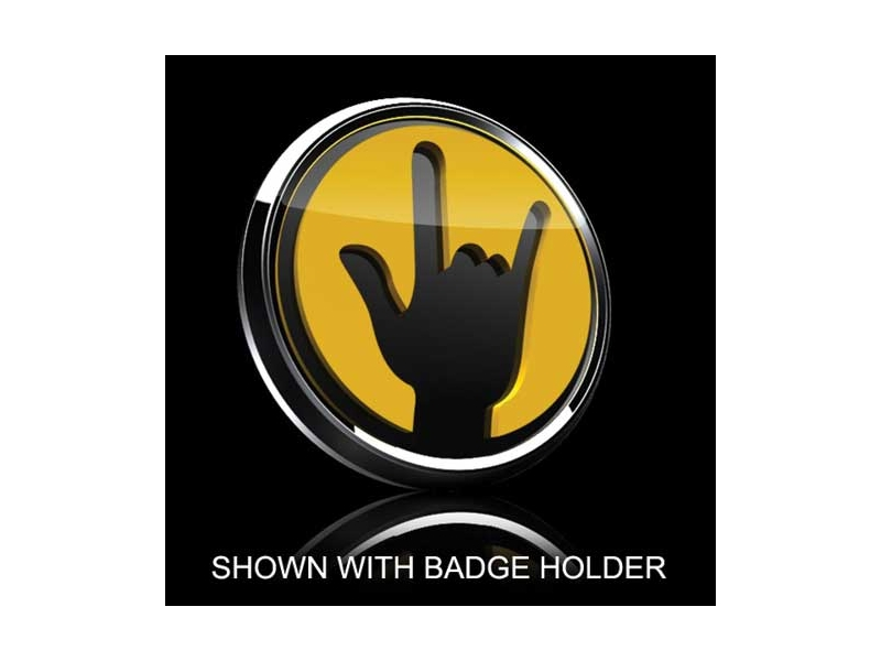 3d Badge Insert - Rockon Yellow