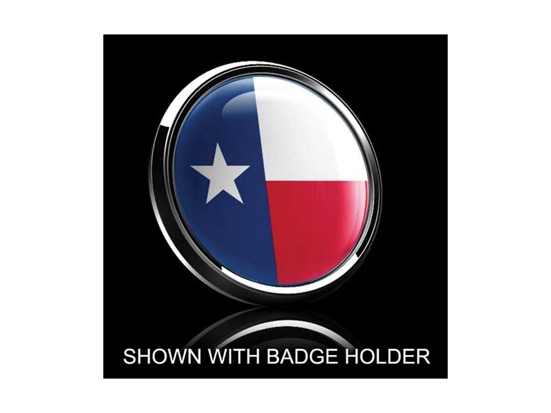 Dome Style 3 Inch Magnetic Badge - Texas Flag