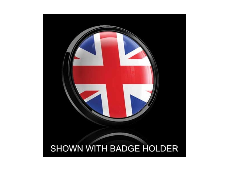 Dome Style 3 Inch Magnetic Badge - Uk Flag