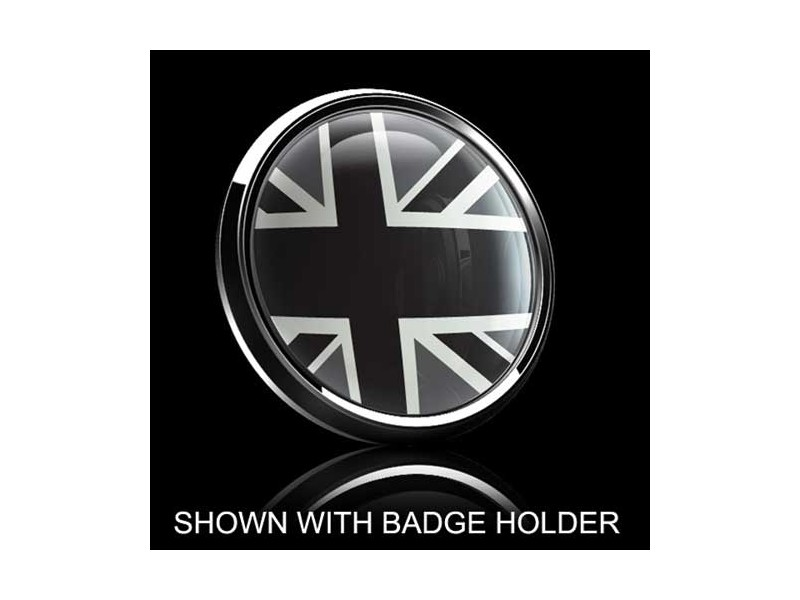 Dome Style 3 Inch Magnetic Badge - Uk Grey Jack