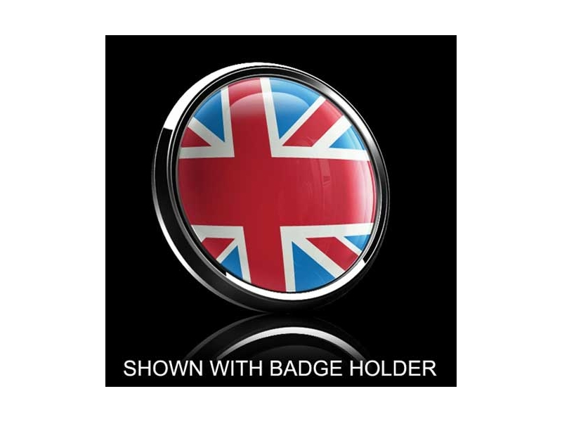 Dome Style 3 Inch Magnetic Badge - Uk Heritage Flag