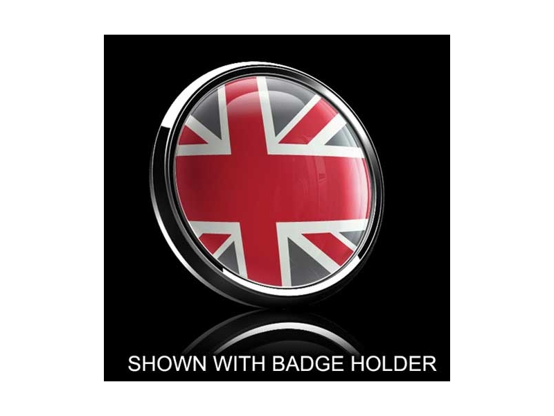 Dome Style 3 Inch Magnetic Badge - Uk Red-grey