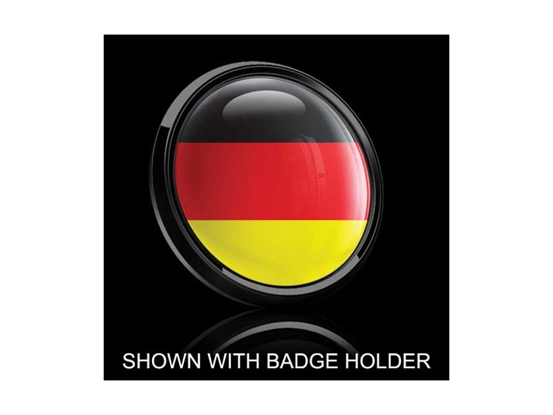 Dome Style 3 Inch Magnetic Badge - German Flag