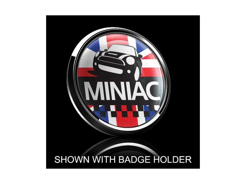 Dome Style 3 Inch Magnetic Badge - Miniac Over Union Jack