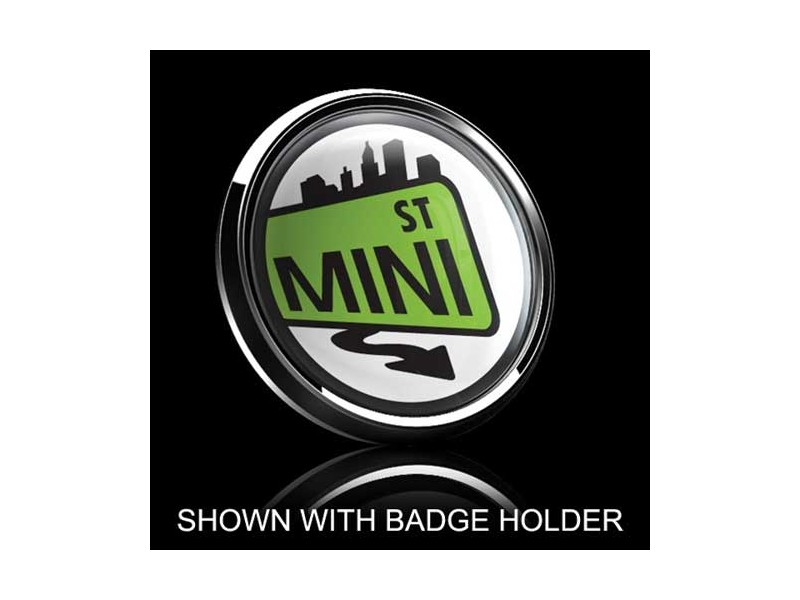 Dome Style 3 Inch Magnetic Badge - Mini Street Sign Green