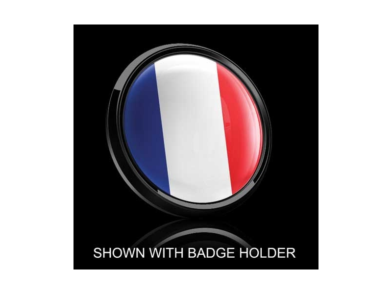 Dome Style 3 Inch Magnetic Badge - French Flag