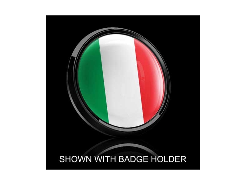 Dome Style 3 Inch Magnetic Badge - Italian Flag