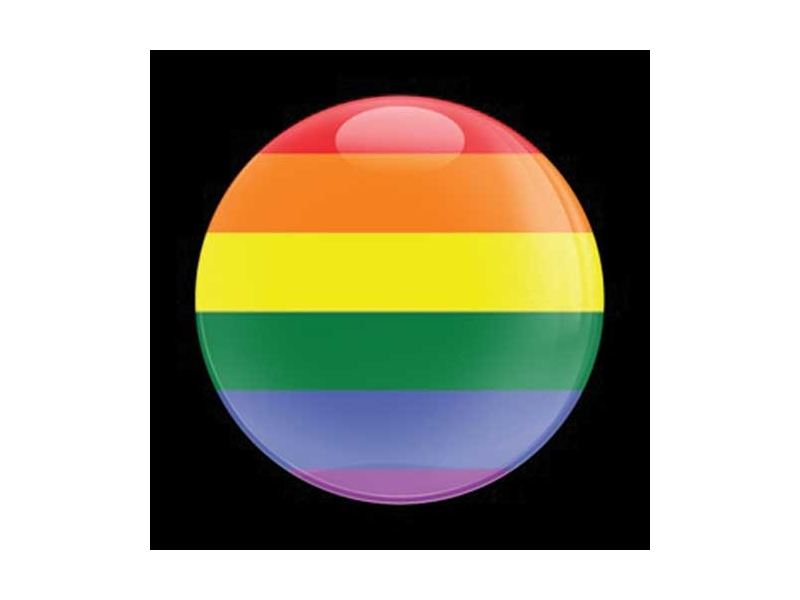 Dome Style 3 Inch Magnetic Badge - Rainbow