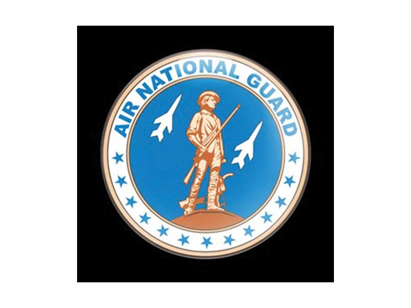 Dome Style 3 Inch Magnetic Badge - Military Us Air National Guard