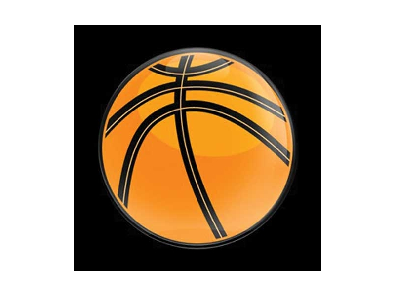 Dome Style 3 Inch Magnetic Badge - Sports Basketball