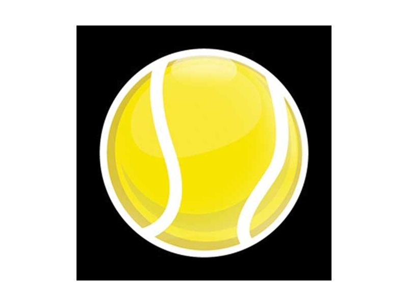 Dome Style 3 Inch Magnetic Badge - Sports Tennis Ball
