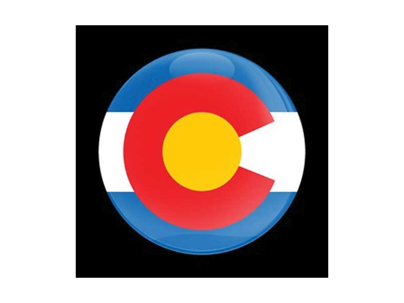 Dome Style 3 Inch Magnetic Badge - Flag Colorado
